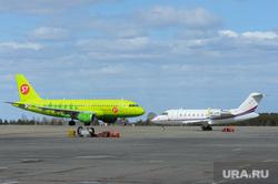 Аэропорт Челябинск, взлетная полоса, S7, впп