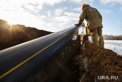 Прокладка нового газопровода высокого давления. Газпром газораспределение Екатеринбург, траншея, газопровод, прокладка газопровода, газовый трубопровод, подземная прокладка
