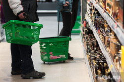 Открытие супермаркета «Перекресток». Екатеринбург, продукты, продуктовый магазин, покупатели, корзина с продуктами, супермаркет, покупка