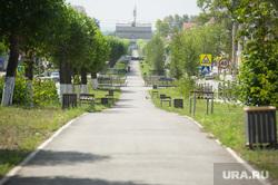 Выездное заседание правительства Свердловской области в Первоуральске, сквер, зона отдыха