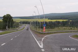 Виды Красноярска, шоссе, трасса, дорога