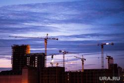 Виды Екатеринбурга, закат, жк, макаровский, вид на стройку, стройка