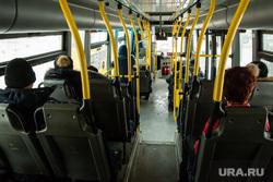 Автобусы и автобусные остановки. Сургут, салон автобуса, пассажиры