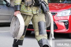 Учения МЧС. Курган, пожарный шланг, пожарный