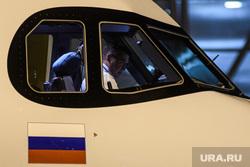 Вечерний споттинг в Кольцово. Екатеринбург, кабина самолета, флаг россии, самолет