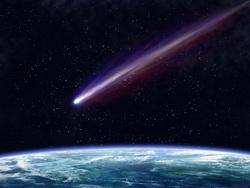 Клипарт depositphotos.com, метеорит, космос, комета, атмосфера, земля, астероид