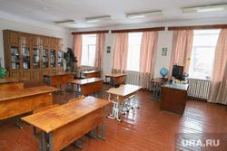 Визит врио губернатора Шумкова Вадима в с. Мальцево. Шадринск, школьный класс, школа, пустые парты