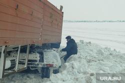 ДТП на трассе зимой. Челябинск, снег, камаз, зима, дтп, авария, кювет