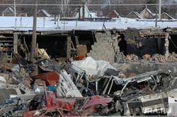 Взрыв газового баллона в гаражах около города Троицка Челябинской области. Архивное фото, январь 2008, руины, последствия взрыва газа