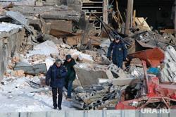 Взрыв газового баллона в гаражах около города Троицка Челябинской области. Архивное фото, январь 2008, мчс, руины, буренко юрий, последствия взрыва газа