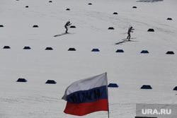 Чемпионат России по биатлону. Тюмень, биатлон, флаг россии