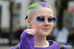 Челябинск. Жизнь горожан, девушка, очки, цветные волосы, кировка, неформалка, звездочка, молодежь