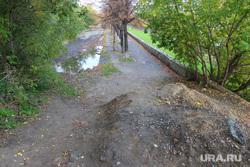 Набережная реки Тобол Курган, набережная тобола, грязь на дороге