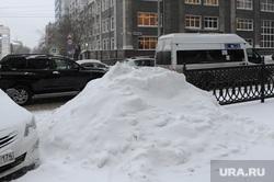Снегопад в городе. Челябинск, сугроб, снегопад