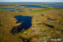 Предварительное голосование на хантыйских стойбищах. Сургутский район , хмао, югра, тундра, арктика, озера, вид сверху, болота, с вертолета