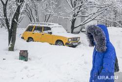 Снегопад в Москве. Москва, зима, снегопад, четвертая модель, четверка, жигули, лада