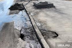 Город, пресс-конференция Заскалькина Курган, провал на дороге, дыра в асфальте
