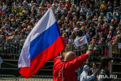 Первомайская демонстрация на Красной площади. Москва, триколор, флаг россии