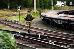 Этап специальных учений материально-технического обеспечения на станции Адуй. Свердловская область, железнодорожные пути, военный, железная дорога, солдат, железнодорожные войска