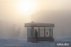 Мороз и ледяной туман. Салехард. 31 января 2019 г, зима, арктика, остановка транспорта, мороз, туман