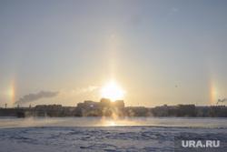 Виды Санкт-Петербурга, зима, санкт-петербург, река нева, солнечное гало, гало