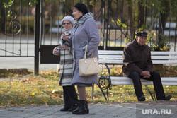 Клипарт. Курган, бабушки, пожилые женщины, пенсионер на скамейке, пенсионеры