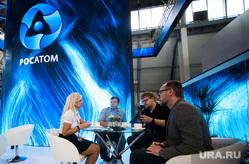 ИННОПРОМ-2019. Третий день международной промышленной выставки. Екатеринбург, стол, чай, общение, стенд, росатом, промышленная выставка