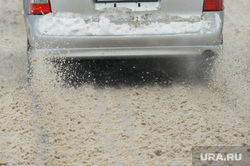 Дороги после снегопада. Челябинск, грязь, снег на дороге, грязный снег