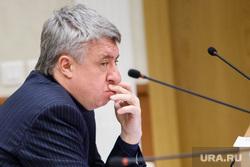 Заседание комитета по региональной политике заксобрания СО по вопросу отмены прямых выборов мэра. Екатеринбург, бабенко виктор, теребит губы
