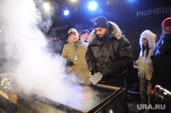 Рэп-исполнитель Тимати на официальном открытии бургерной Black Star Burger. Челябинск, тимати