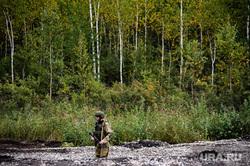 Этап специальных учений материально-технического обеспечения на станции Адуй. Свердловская область, военный, река, солдат