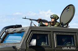 Антитеррористические учения «Мирная миссия - 2018». Челябинск, армия, пулемет, оружие, вооружение, война