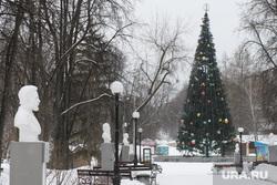 Ярослав Ширшиков читает стихи в парке Маяковского. Екатеринбург, аллея, парк, новогодняя елка, новый год