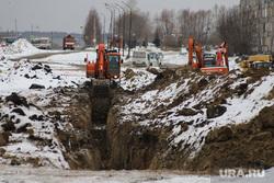 Ремонтные работы на ул. Мальцева. Курган, зима, жкх, траншея, ремонт дороги, ремонт, стройка