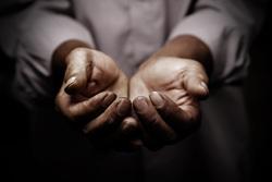 Клипарт depositphotos.com, бедность, нищета, протянутые руки, нет денег