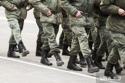Репетиция торжественного построения к Дню Победы. Челябинск, ботинки, армия, солдаты, рота