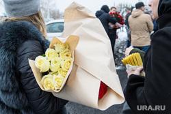 Прощание с Ксенией Каторгиной в Каменск-Уральске. Екатеринбург, свечи, розы, букет, цветы