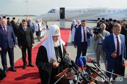 Прибытие Патриарха Кирилла в Екатеринбург, куйвашев евгений, патриарх кирилл, цуканов николай, самолет legacy 600