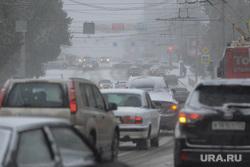 Снегопад. Челябинск, пробка, дорожное движение, снегопад, автомобили, улица воровского
