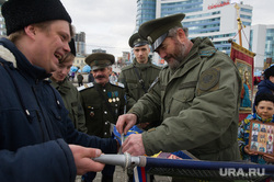 Пасхальный крестный ход. Екатеринбург, казаки, крестный ход