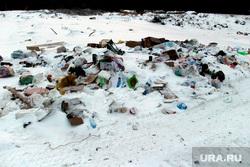 Кетовская свалка. Курган, мусор в снегу