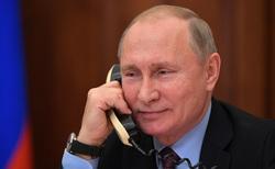Сайт президента России, улыбка, разговор по телефону, путин владимир