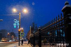 Ночной снегопад. Челябинск, снегопад, стихия, непогода, климат