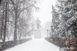 Снегопад. Тюмень, снег, зима, метель, ленин, снегопад