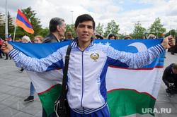 День России в Екатеринбурге, узбек, флаг узбекистана