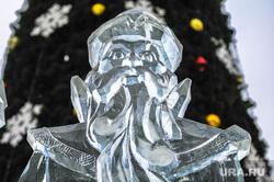 Ледовый городок Челябинск, ледовые скульптуры, дед мороз