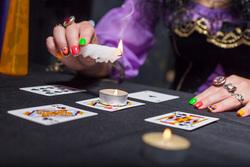 Клипарт depositphotos.com, свечи, карты, магия, гадание, волшебство, предсказание