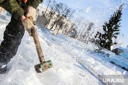 Виды Екатеринбурга, молоток, лед