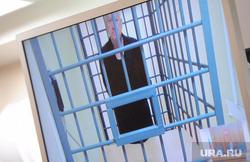 Апелляция по мере пресечения Евгению Тефтелеву. Челябинск, камера, монитор, клетка, видеоконференцсвязь, тефтелев евгений