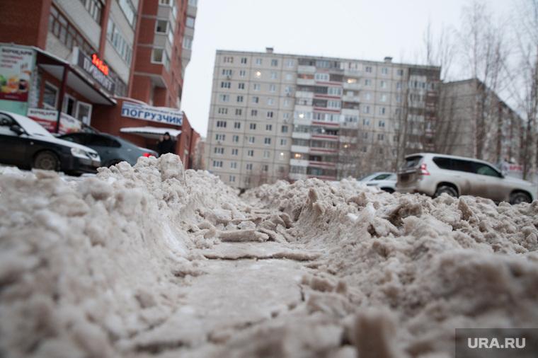 Снег в городе. Тюмень